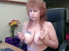 MILF, Mature, Masturbation, Tattoo