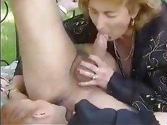 Cumshot, Granny, Mature, MILF, Threesome