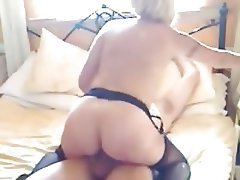 Blonde, Blowjob, Cumshot, Mature, Pantyhose