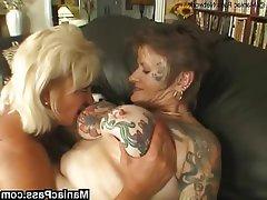 Big Boobs, Granny, Lesbian, Mature