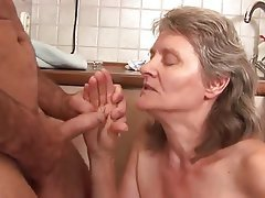 Blowjob, Cumshot, German, Granny, Old and Young