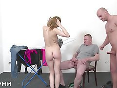 German, Mature, MILF, Threesome, Voyeur