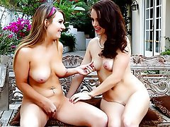 Lesbian, MILF, Old and Young, Outdoor, Teen