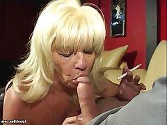 Big Boobs, Blowjob, Granny, Mature, Saggy Tits