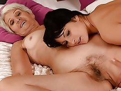 Hairy, Lesbian, Mature, Old and Young, Granny