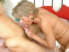 Blonde, Cumshot, Old and Young, Blowjob
