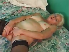 Cumshot, Granny, Hardcore, Stockings