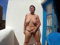 Amateur, BBW, Masturbation, Granny