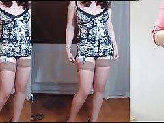 Brunette, Mature, MILF, Stockings, Webcam